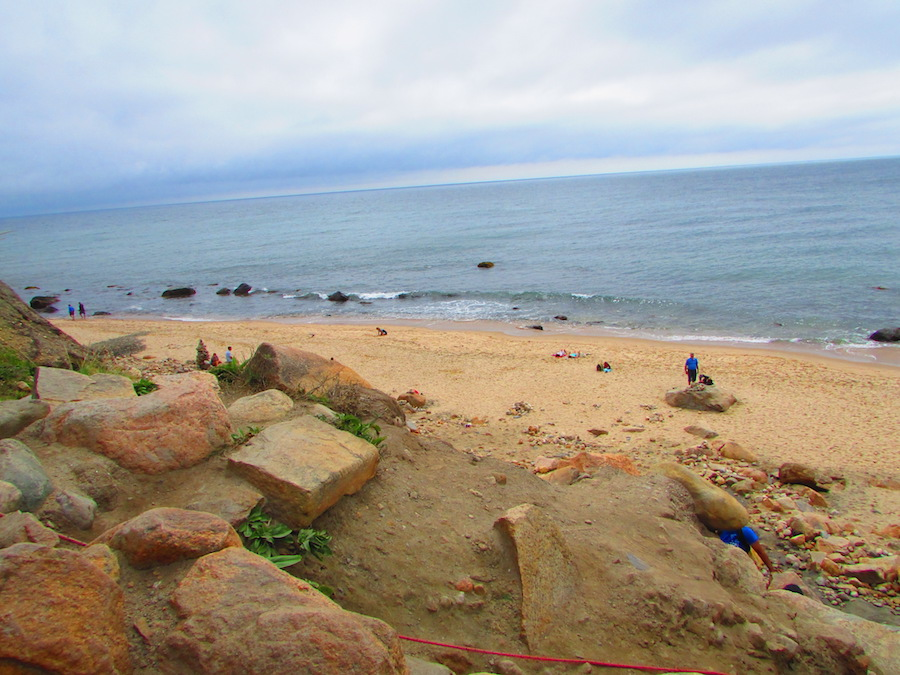 Exploring the Mohegan Bluffs during a day trip to Block Island