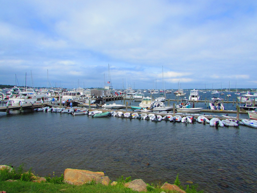 A marina on Block Island