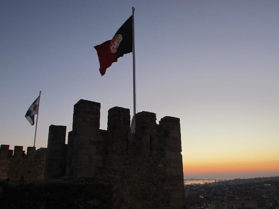The Portuguese flag at St. Jorge's Castle