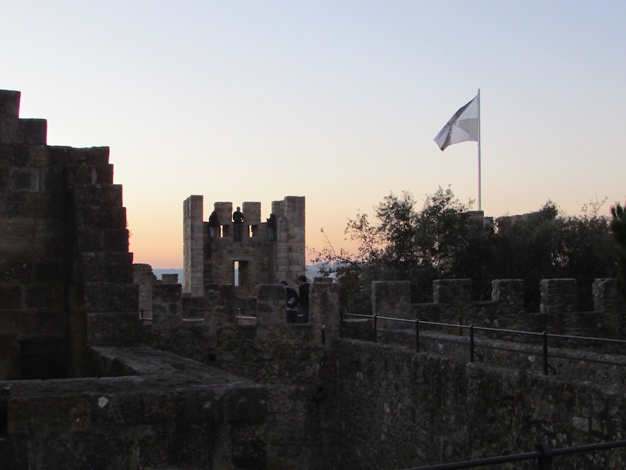 The castle walls of St. Jorge's are stunning